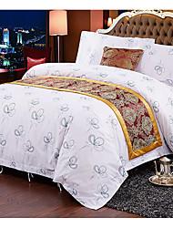 Novelty Duvet Cover Sets 4 Piece Cotton cartoon Reactive Print Cotton Full 1pc Duvet Cover 2pcs Shams 1pc Flat Sheet