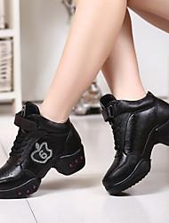 Chaussures de danse(Noir) -Non Personnalisables-Talon Bottier-Cuir-Moderne