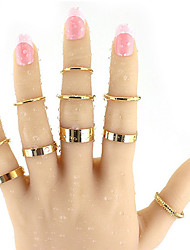Elegant Boho Style Geometric Pattern Round Finger Rings