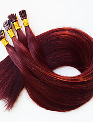 I tip Keratin Fusion human Hair Extensions Brazilian hair #350 Dark Wine Red Brazilian Hair 50 100 Pcs/Lot