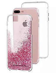 For iPhone 8 iPhone 8 Plus iPhone 7 iPhone 7 Plus iPhone 6 Case Cover Flowing Liquid Back Cover Case Glitter Shine Hard PC for Apple