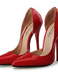 Черный Красный-Унисекс-Для праздника Для вечеринки / ужина-Лакированная кожа-На шпилькеОбувь на каблуках