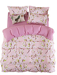 Mingjie Pink Flowers Bedding Sets 4PCS for Twin Full QueenSize from China Contian 1 Duvet Cover 1 Flatsheet 2 Pillowcases