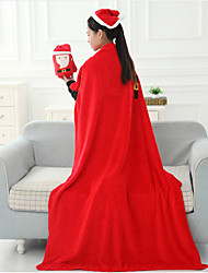 The New Christmas Gift Cartoon Travel Blanket Blankets Double-sided Flannel Blanket The Santa Claus  Device 80*100Cm