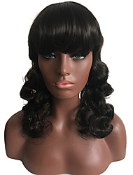 Women Long Curly Hair Wig With Bangs Christmas Party Cosplay Costumes