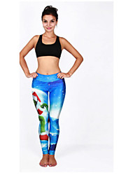 Women's Cut Out  Print Legging,Polyester