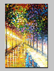 Hand Painted Streets Landscape Oil Paintings On Canvas Modern Abstract Wall Art Picture For Home Decoration Ready To Hang