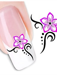1sheet  Water Transfer Nail Art Sticker Decal XF1428