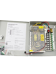 12V 10A DC 9 Power Supply Box Auto-RESET / 12V10A 120W Power Supply / Switch Power Supply, 110/220V AC Input
