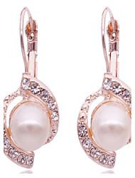 Women's Stud Earrings Rhinestone Fashion Pearl Imitation Diamond Alloy Jewelry For Daily