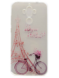 Pour Ultrafine / Transparente / Motif Coque Coque Arrière Coque Tour Eiffel Flexible TPU pour HuaweiHuawei P9 / Huawei P9 Lite / Huawei