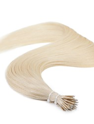 Neitsi 24'' 25g/lot 1g/s Nano Ring Beads Loop Human Hair Extensions Straight Nano Ring Tipped Remy Hair
