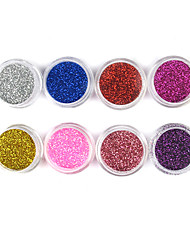 1PCS Laser Glitter Acrylic Powder For 3D Nail Art(Assorted Color,No.9-16)