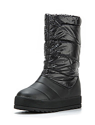 Women's Boots Winter PU Office & Career Casual Platform Creepers Ruffles Black Green Coral Other