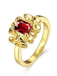Anéis Sem Pedra Casual Jóias Chapeado Dourado Rosa Folheado a Ouro Feminino Anel 1peça,7 8 Dourado Ouro Rose