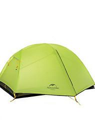 NatureHike® 2 personnes Tente Double Une pièce Tente de camping Aluminium ToileRésistant à l'humidité Etanche Respirabilité Résistant au