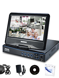 "Annke® All in One AHD Built-in 10.1"" LCD Monitor 720P HD DVR NVR HVR Network CCTV Surveillance Video"