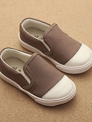 Boy's Loafers & Slip-Ons Spring Fall Moccasin Canvas Casual Flat Heel Gray Navy Blue