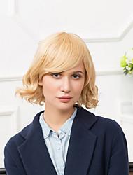 vente chaude fabuleuse mi-longueur capless perruques de cheveux humains onduleux naturel