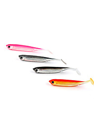 "6 pcs Soft Bait Soft Bait Black / Pink / White / Red 2.1 g/1/10 oz. Ounce mm/2-3/4"" inch,Soft PlasticSea Fishing / Spinning / Jigging"