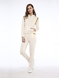Women's Patchwork High Quality Loose Leisure Sport Suits Hoodies , Casual Hooded Long Sleeve
