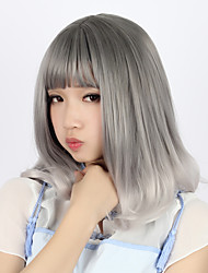 Sweet Lolita Color Gradient Curly Gray Lolita Wig 40cm CM Cosplay Wigs Wig For Women