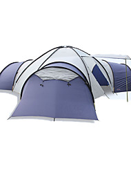 > 8 pessoas Tenda Barracas para Acampamento Família Três Quartos Barraca de acampamento Poliéster Oxford Fibra de Vidro Couro Ecológico