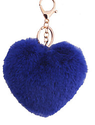Key Chain Heart-Shaped Key Chain Navy Blue Metal / Plush
