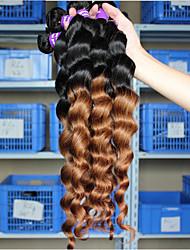 Омбре Малазийские волосы Свободные волны волосы ткет