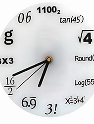 Modern/Contemporary / Traditional / Casual Holiday / Birthday Wall Clock,Round Metal / Plastic Indoor Clock