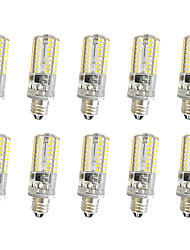 10 PC 3w e11 / e12 / e14 64smd 3014 300lm blanco fresco caliente blanco dimmable ac110v / 220 v