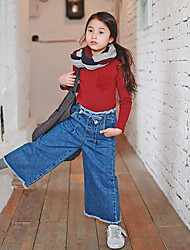 Girl's Casual/Daily Solid JeansCotton Fall Blue