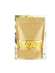 Kraft Paper Bags Kraft Ziplock Food Packaging Bags Tea Seeds Bags Sealed Bags Of Dried Fruit A Pack Of Ten