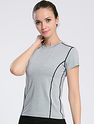 Running Sweatshirt Women's Short Sleeve Breathable Comfortable Spandex Mesh/Net Yoga Running LAVIE.Q® Sports Wear High Elasticity Slim