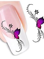 1sheet  Water Transfer Nail Art Sticker Decal XF1438