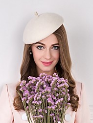 Women's Feather / Wool / Fabric Headpiece-Wedding / Special Occasion / Casual Hats 1 Piece