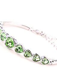 Bracelet Bangles Alloy Heart Others Heart Personalized Birthday Gift Wedding Party Daily Casual Valentine Jewelry Gift Green,1pc