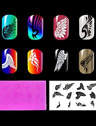 1pc ongles rouge en plastique environnement plaque d'estampage, des motifs de style chinois. (Kd-sm612-019)