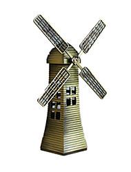 Modèle d'affichage Maquette & Jeu de Construction Jouets Nouveautés Moulin à vent Métal Bronze Pour Garçons Pour Filles