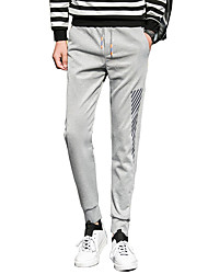 Men's Plus Size Slim / Harem Chinos / Sweatpants Pants,Casual/Daily / Sports Vintage / Street chic / Active Solid Low RiseDrawstring /
