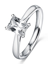Ring / Daily Casual Jewelry Alloy Women Ring Band Rings 1pc,6 7 8 9 Silver