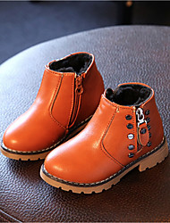 Boy's Boots Fall Winter Comfort Leatherette Casual Flat Heel Yellow