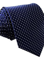 Men Vintage / Cute / Party / Work / Casual Neck Tie,Rayon Polka Dot,Blue All Seasons
