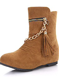 Women's Boots Winter Others Leatherette Dress / Casual Low Heel Zipper / Chain Black / Yellow Others