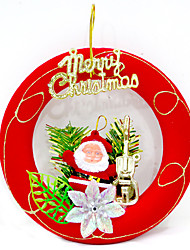 Christmas Decorations / Christmas Party Supplies Holiday Supplies Circular / Square / Triangle Textile Red Above 14