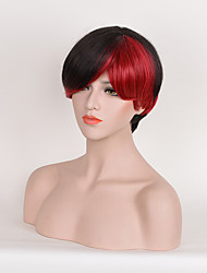 Hot Selling Black To Red Color Synthetic Daily Wigs Short Curly Wigs