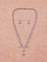 Schmuck 1 Halskette 1 Paar Ohrringe Kubikzirkonia Hochzeit Party Alltag Normal Kubikzirkonia 1 Set 5 Stück Damen Weiß Hochzeitsgeschenke
