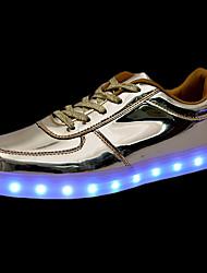 Homme Baskets Chaussures Lumineuses Confort Polyuréthane Automne Hiver Décontracté Confort Chaussures Lumineuses Lacet LED Talon PlatOr
