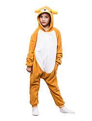 Kigurumi Pajamas Rilakkuma Bear Leotard/Onesie Festival/Holiday Animal Sleepwear Halloween Brown Solid Polar Fleece For KidHalloween / Christmas /