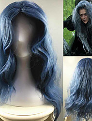 Into the Woods Movie Custome Cosplay Witch Wig Blue Loose Wave Fashion Daily Natural Synthetic Wig Heat Resistant High Temperature